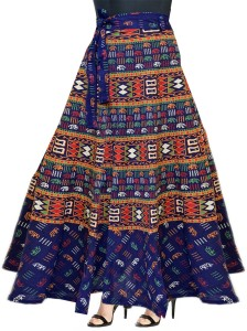 Silver Organisation Printed Women's A-line Multicolor Skirt