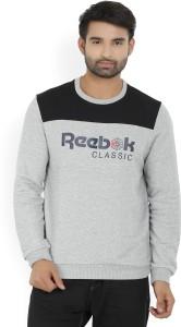 Reebok Full Sleeve Printed Men's Sweatshirt
