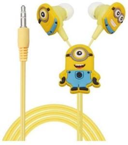JK ERFINDERS Minion Cartoon Wired Earphone Headphone