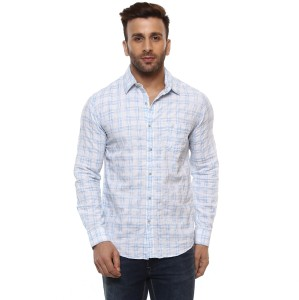 b4311c8a2dd Mufti Men Checkered Casual Button Down Shirt Best Price in India ...