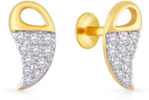 4d0cda6a0 Malabar Gold and Diamonds Yellow Gold 22kt Cubic Zirconia Stud Earring