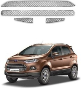 Carsaaz N Bentley Type Front Grill Chrome Ford Ecosport Front Garnish