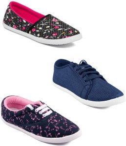 Asian Women's Combo Pack of 3 casual shoes Casuals For Women