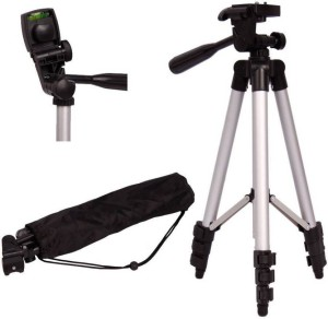 Spring Jump Silver Tripod stand for mobile and camera Tripod Kit