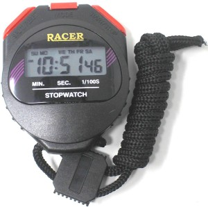 racer Digital Stopwatch 3 Button Triple Mode Function Waterproof Professional Stop Watch Chronograph Countdown Timer Handheld Sports Watch with Alarm & Date & Time