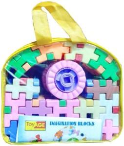 SHRIBOSSJI Building Blocks Educational Set For Kids Play Toy (66 Pieces)