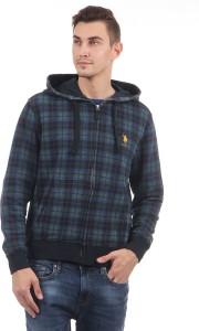 U.S. Polo Assn. Full Sleeve Checkered Men Sweatshirt