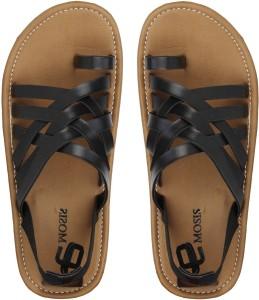 268f0f9583af Emosis Men Black Sandals Best Price in India