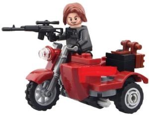 Montez Winter Soldier Motorcycle 37 Pcs Block Construction Toy