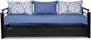 FurnitureKraft Venice Double Metal, Engineered Wood Sofa Bed