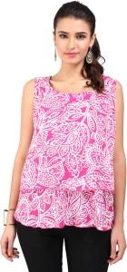 VASTRAABHUSHAN Formal Sleeveless Printed Women Pink Top