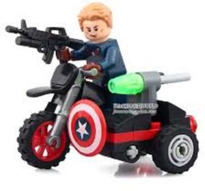 Montez America Super Hero Motorcycle 31 Pcs Block Construction Toys