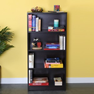 Valtos Engineered Wood Open Book Shelf
