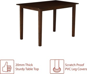 b1ac8a17ca Perfect Homes by Flipkart Fraser Rubber Wood 4 Seater Dining SetFinish  Color - Walnut