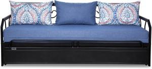 FurnitureKraft Caen Double Metal, Engineered Wood Sofa Bed