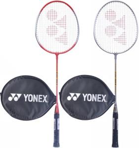 Yonex GR 303 Aluminium Badminton Racquet Multicolor Strung Badminton Racquet G3   3.5 Inches, 90 g