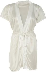 b0c7d0ca36 Shararat Women Nighty with Robe White Best Price in India