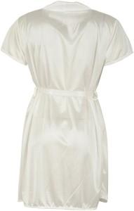 Shararat Women Nighty with Robe White Best Price in India  3d3143295