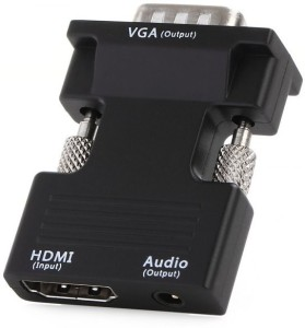 Microware HDTV Female to VGA Out with Audio converter HDMI Adapter