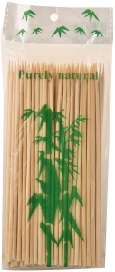 Ambassador TWI-Ambassador Bamboo Skewer Round 6 inch Bar-be-que / Sathay stick (Pack of 2 x 80) Disposable Bamboo Roast Fork Set