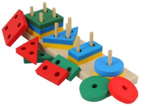 Baybee Wooden Geometric Shape Sorter Puzzle16 Pieces