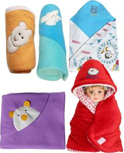 My NewBorn Cartoon Crib Hooded Baby Blanket