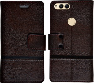 sale retailer 6fd19 a7153 MYSHA Flip Cover for Huawei Honor 7XMulticolor, Artificial Leather