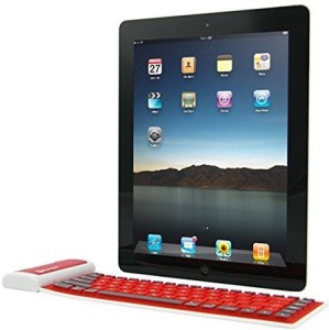 VibeX ® Bluetooth Wireless Washable Waterproof Dustproof Flexible Silicone Roll UP Keyboard Wireless, Bluetooth Multi-device Keyboard