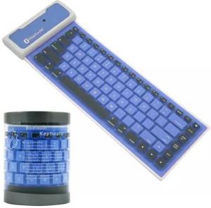 VibeX ™ Portable Bluetooth Wireless Waterproof Silicone Keyboard for iPad 2 3 4 Mini/Samsung Wireless, Bluetooth Multi-device Keyboard
