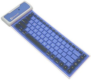 VibeX ™ Super Mini Portable Keyboard Flexible Wireless Keyboard Silicone Roll-up Bluetooth Keyboard Wireless, Bluetooth Multi-device Keyboard