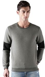 WROGN Full Sleeve Self Design Men Sweatshirt