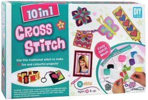 2a2c103bbce14 HALO NATION 10 in 1 Cross Stitch art and Craft kit for Girls