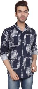 DOE Men's Printed Casual Multicolor Shirt