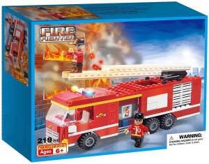 Webby Fire Fighter Fire Truck Building Blocks