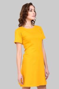 4d1ea7e9f8d Crease & Clips Women's T Shirt Yellow Dress