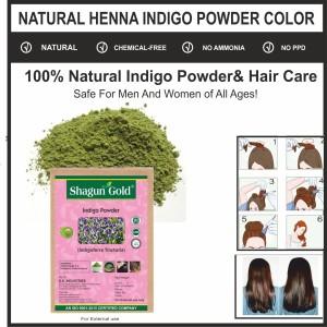 Shagun Gold Indigo Henna Powder 100 Natural Black Henna No Ppd