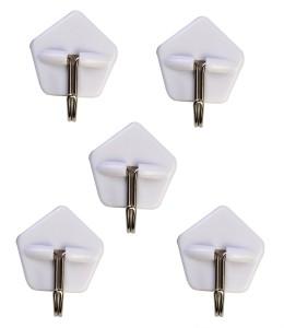HOKIPO Adhesive Wall Hooks, Load Capacity 1kg 0 - Pronged Hook
