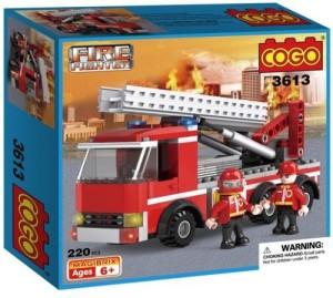 Generic 220PCS COGO Fire Fighting Series Fire Trunk Building Brick Block Toys DIY Set