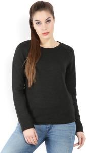 United Colors of Benetton Casual Full Sleeve Self Design Women's Black Top