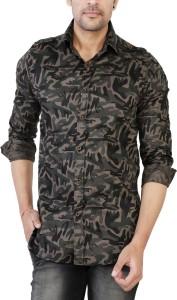 Jai Textiles Men's Military Camouflage Casual Green Shirt