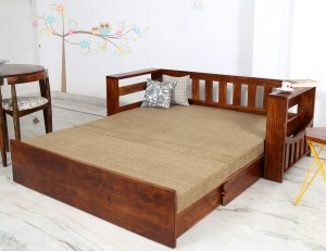 Home Edge Shredder Double Solid Wood Sofa Bed