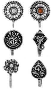 Anuradha Art Jewellery Metal Nose Stud