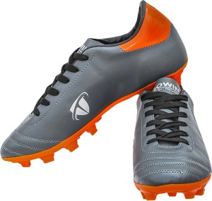 Gowin By Triumph Ace Grey,Orange Football Shoes For Men