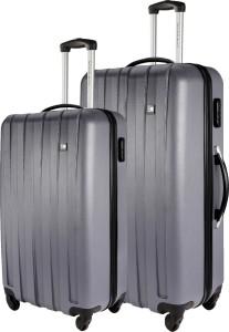 8e93725bc72f Nasher Miles Zurich Grey Abs Hardsided Set Of 2 Luggage Set 55 65 Cm ...