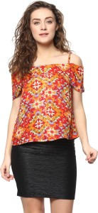 Mayra Casual Half Sleeve Printed Women's Multicolor Top