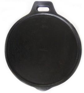 ekitchen Fully Seasoned Cast Iron + Flat Tawa Tawa 28cm cm diameter
