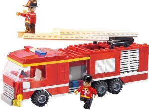 Pacific Toys Fire Fighter Fire Truck Building Blocks, 219 Pieces