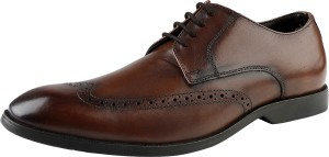 Kanprom Formal Longwing Brogue Genuine Leather Shoes For Men Derby For Men