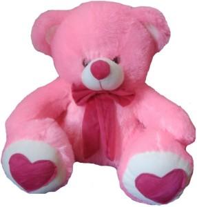 8d53e7a5487 AVS Stuffed Spongy Hugable Cute Teddy Bear With Foot Heart 15 inch ...