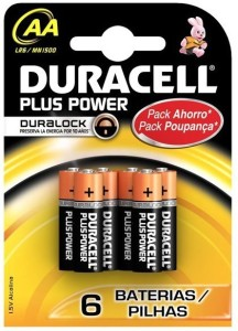 Duracell AA MN1500 LR6  Battery Pack of 6